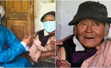 Mjekët bëjnë 3 orë rrugë në këmbë për të vaksinuar një 121-vjeçar