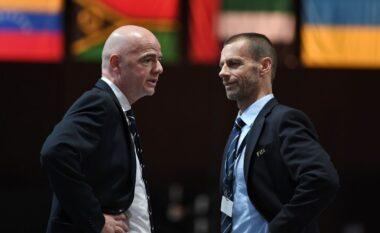 Ceferin mendon t'i ndëshkojë klubet themeluese të Superligës, Infantino kundërshton