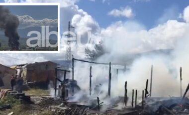 Digjen dy banesa në Gjirokastër, zjarri shkrumbon gjithçka
