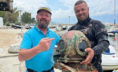 U zhyt për të kapur oktapod, zhytësi gjen skafandrën e Luftës së Dytë Botërore