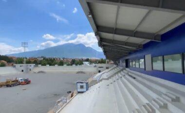 Rama publikon pamje nga stadiumi i Kukësit: Në shtator do të jetë gati