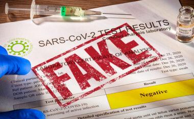 Falsifikonin teste Covid, 10 të arrestuar, mes tyre dhe 3 mjekë
