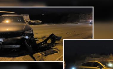 """Po """"fluturonte"""" nga shpejtësia, shoferja bën copë makinën e përfundon në spital (VIDEO)"""