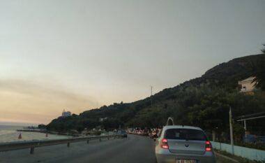 Punimet në rrugë sjellin trafik të rënduar Vlorë-Orikum