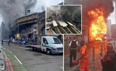 Zjarri madh në një stacion treni në Londër
