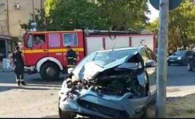 Aksident në Maminas, zjarrfikësja përplaset me automjetin