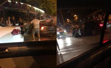 Aksident në Tiranë, makinat bëhen copash tek Brryli, njëra thuajse futet në lokal (FOTO LAJM)