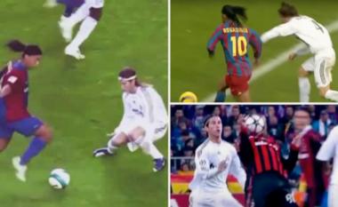 E turpëroi me driblimet e tij vite më parë, Ronaldinho i shkruan Ramos: Hej, e mban mend këtë natë? (FOTO LAJM)