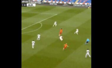 Mur i pakalueshëm për lojtarët e Uellsit, Gjimshiti bën dy ndërhyrje që tregojnë nivelin e tij të lartë (VIDEO)