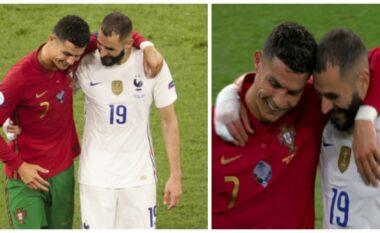Takimi viral pas ndeshjes, Benzema zbulon çfarë i tha Cristiano Ronaldo (VIDEO)