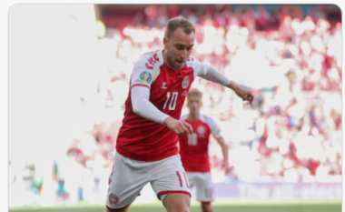 Eriksen i kërkoi lojtarëve të Danimarkës të vazhdonin ndeshjen me Finlandën