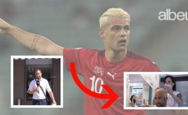 """Ofendoi Granit Xhakë, gazetari i """"Blick"""" detyrohet t'i lyej flokët e bardha (VIDEO)"""
