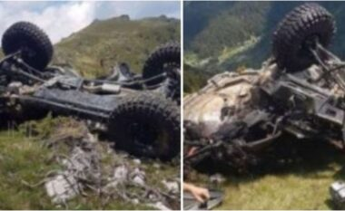 Pamje të frikshme: Makina rrokulliset mes maleve, ka të plagosur (VIDEO)