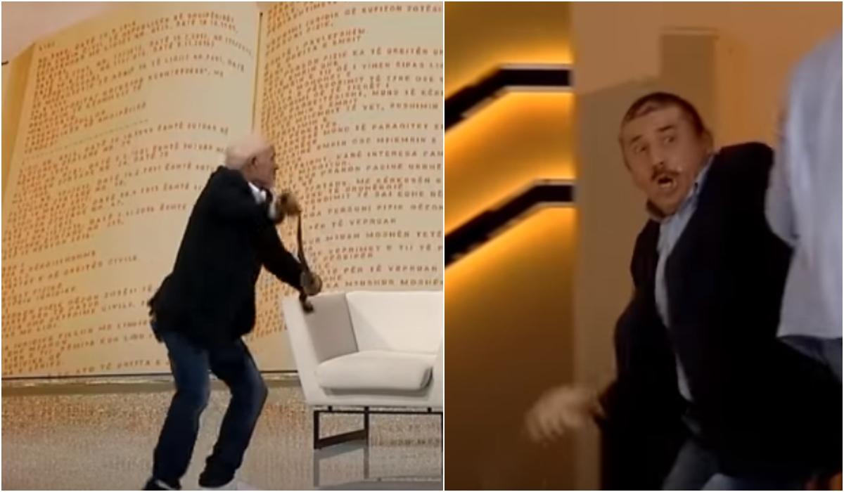 Degradon situata mes dy vëllezërve, heqin rripat për tu rrahur live në emision (VIDEO)