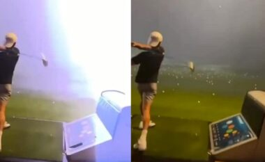 Shikoni sesi rrufeja godet në ajër topin e golfit (VIDEO)