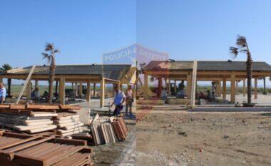 """Po ndërtonte një """"beach bar"""" pa leje në plazhin e Tales, arrestohet 41-vjeçari në Lezhë"""