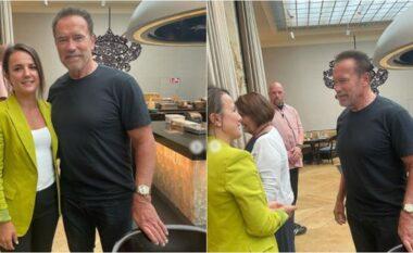 Rudina Hajdari takon Arnold Schwarzenegger, çfarë i bëri bashkë në Vjenë (FOTO LAJM)