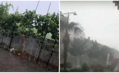 """""""Çmendet"""" moti në Elbasan: Nga temperatura 41 gradë, fillon shi e breshër (VIDEO)"""