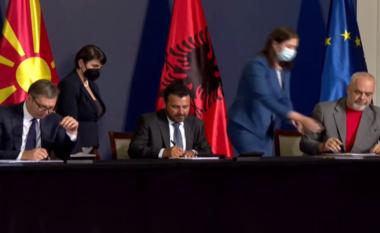 """""""Ballkani i Hapur"""", Rama, Vuçiç e Zaev nënshkruajnë marrëveshjen trepalëshe"""