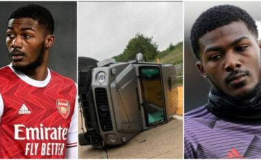 Me G-Glass të fundit, lojtari i Arsenalit përplas të moshuarën (FOTO+VIDEO)
