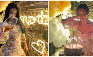 E gjeni dot moshën? Samanta Karavella festoi një super ditëlindje këtë vit (VIDEO)