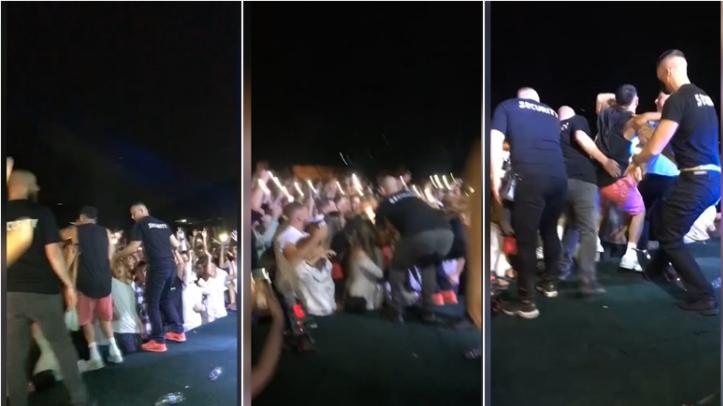 Momenti kur Noizy rrëzohet në skenë gjatë performancës (VIDEO)