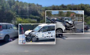 Aksident me tre të plagosur në Lezhë, makinat bëhen copash (VIDEO)