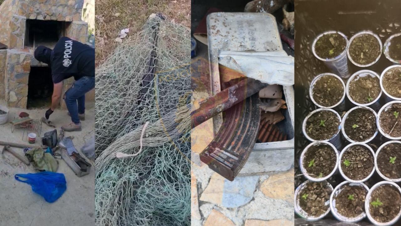 Armë zjarri, 260 fishekë, dhe fidanë kanabisi, arrestohet 36-vjeçari në Vlorë
