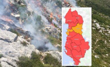 Shqipëria hartë e kuqe, thuajse të gjithë qarqet në rrezik të lartë nga zjarret (FOTO LAJM)