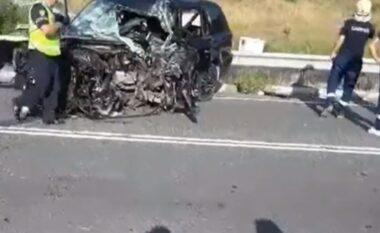 Aksident i rëndë në rrugën e kombit, humb jetën një person (VIDEO)