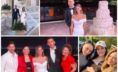 Motra e Almeda Abazit martohet me sportistin turk, dalin pamjet nga ceremonia madhështore (VIDEO)