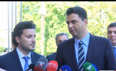 Përfundon takimi i Bashës me Abazoviç: Diskutuam për zhvillimin e popujve tanë dhe integrimin në BE (VIDEO)