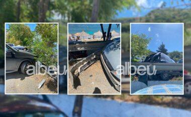 Aksident në Radhimë, tre makina të përplasura