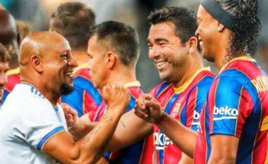 Legjendat e Realit fitojnë El Clasicon ndaj legjendave të Barcelonës (VIDEO)