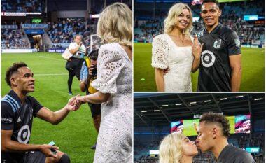"""""""Ajo tha po"""", futbollisti 23-vjeçar i bën propozimin special për martesë të dashurës (VIDEO)"""