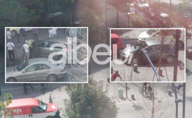 Aksident te Bulevardi Zogu I në Tiranë, përplasen dy makina (FOTO LAJM)