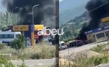 Të parkuara në një pikë karburanti, digjen dy automjete në Fushë-Krujë