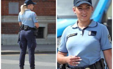 Forma perfekte, policja e pashme kroate tërhoqi vëmendjen e një fotografi në Zagreb (FOTO LAJM)