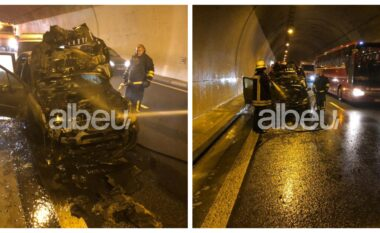Makina merr flakë në tunelin e Kalimashit, bllokohet njëri sens i lëvizjes