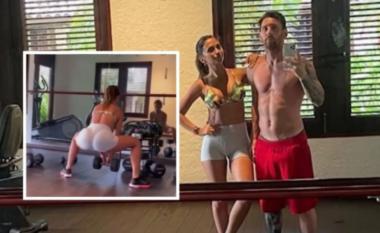 Tërheq vëmendjen e të gjithëve me format, Messi fshin videon ku stërvitet me gruan (VIDEO)