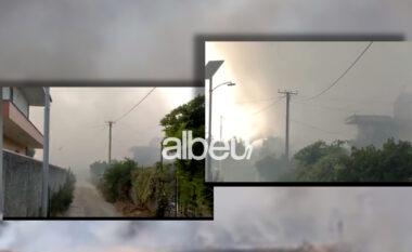 Aktiv prej disa orësh, vazhdon lufta për shuarjen e flakëve në fushën e mbetjeve në Fier (VIDEO)
