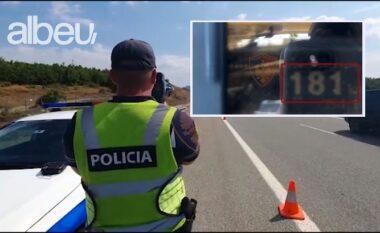 Shoferi nuk mat gazin, me 181 km/h në Fier-Vlorë, policia i marr patentën (VIDEO)