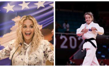 Rita Ora uron shqip Distria Krasniqin për medaljen e artë: Nuk mund të isha më krenare!