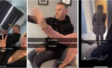 Wayne Rooney shfaqet i dehur, dy bjondet e zhveshura tallen keq me të, njëra i lëshon p*rdhën në fytyrë (VIDEO)