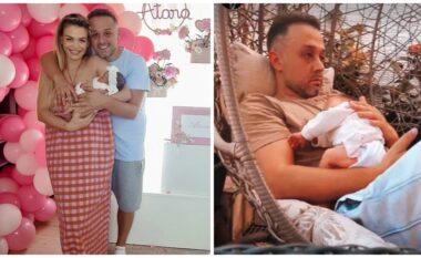 Me të bijën në krah, Orinda Huta ndan pamjet më të ëmbla të babi Turit (VIDEO)