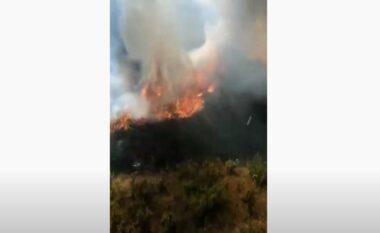 Nuk ka të ndalur zjarri në Vlorë, përfshihen nga flakët edhe kodrat e fshatit Xhyherinë