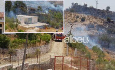 Zjarr në kodrën me ullinj në Sarandë, rrezikohen banesat (VIDEO)