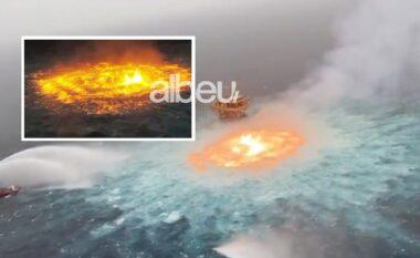 Çfarë po ndodh? Shpërthen zjarri në mes të Oqeanit (VIDEO)