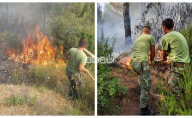 Ndërpritet aksioni i shuarjes së zjarreve në Karaburun, shkak era e fortë