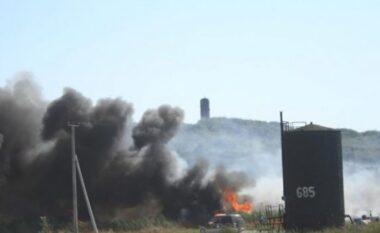 Përfshihet nga flakët pusi i naftës në Patos, u shkaktua panik për banesat rrotull